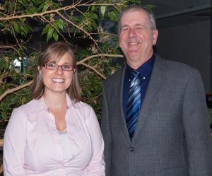 Angela Gruber (2009-2014) and Mike Cox