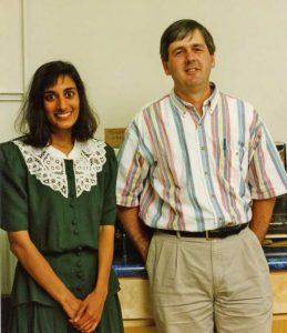 Sarita Jain (1988-1994) and Mike Cox