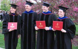 Drees, Cox, Hobbs, Eggington in gowns2006