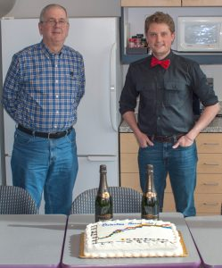 Mike and Steven Bruckbauer with cake 2018